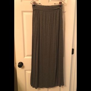 love21 Long Maxi Skirt Gray